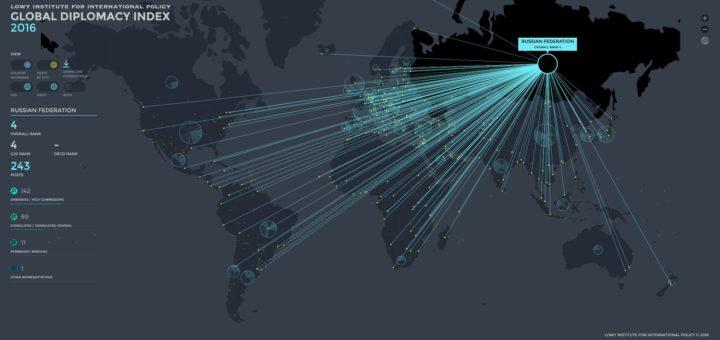 Global diplomacy map