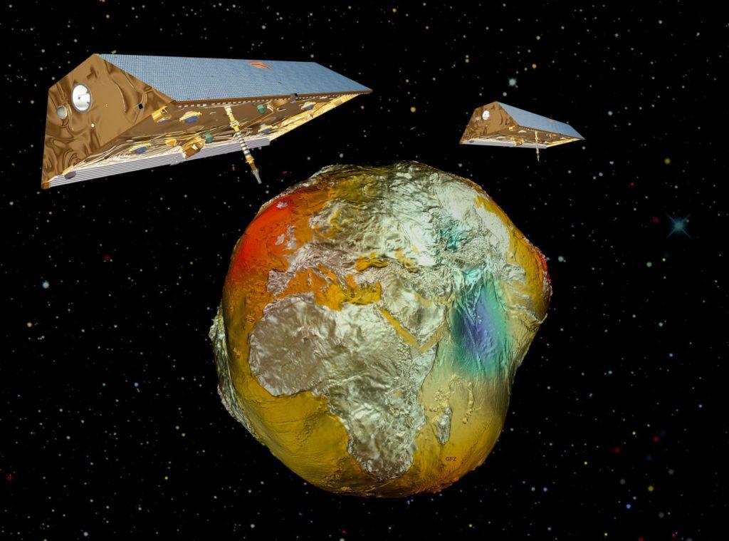 Спутники-близнецы GRACE и гравитационная модель Земли