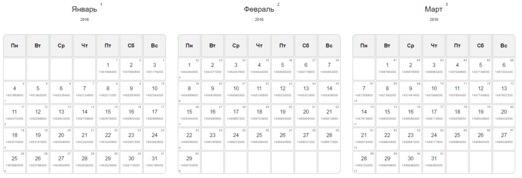 Календарин. Календарь.