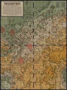 Карта Марса Элеоноры Лутц.