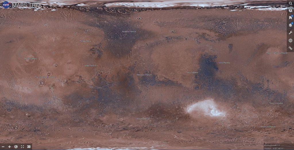 Интерактивная карта Марса