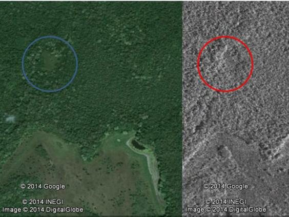 Данные Google Earth