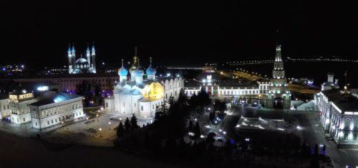 Ночная Казань глазами дрона