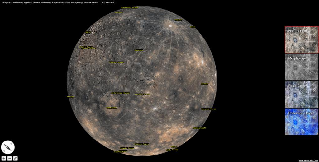 enhanced color mercury map nasa solar system exploration - 1024×521