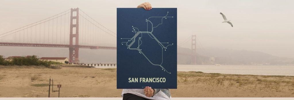 Сан-Франциско. Схема метро.