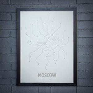 Москва. Схема метро.