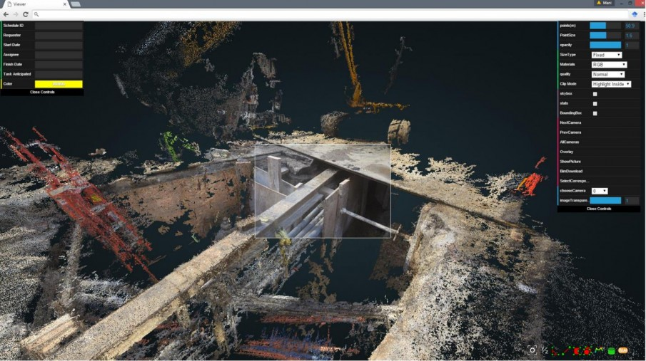 Цифровая обработка изображения с места проведения земляных работ.