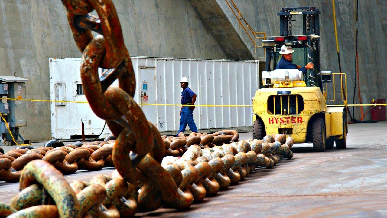 Как делают гигантские цепи