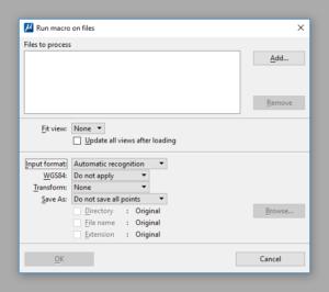 TerraScan. Macro. On selected files.