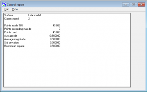 Output control report